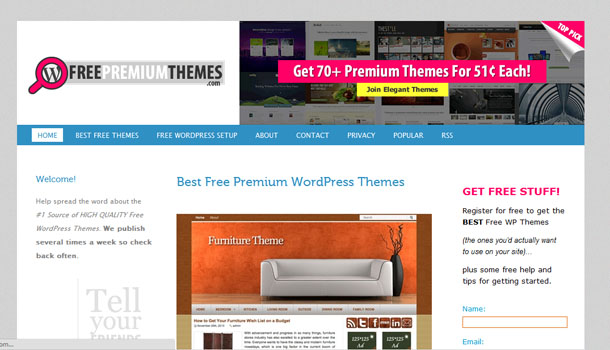 5 Sitios para descargar themes gratis de Wordpress